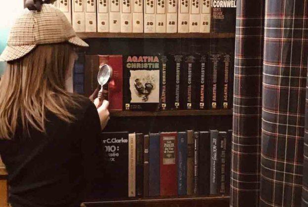 Bibliothèque dans Un Crime Presque Parfait Enquête Criminelle