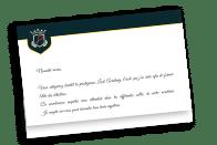 Lettre d'admission à la Lock Academy - école de détectives Escape Game Paris