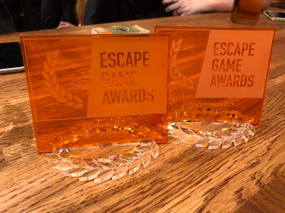 Trophée Escape Game Awards - Meilleur Escape Game Paris 2019